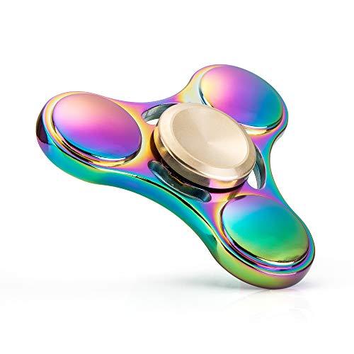 VAPIAO Fidget Spinner Special Version mit Einem Hochleistungs Kugellager Anti Stress Kreisel Hand Spielzeug in Regenbogen Farben