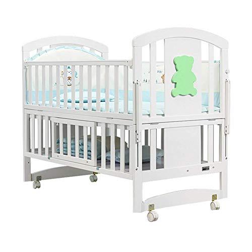 5 In 1 Multifunktions Neugeborenen Krippe Solid Harmless Farbe Holz Babybett Schaukel Bett, 105 * 61 * 95 cm 120 * 65 * 95 cm