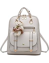 060325f873 Barwell Women Backpack School Shoulder PU Leather Daypacks Travel Bag