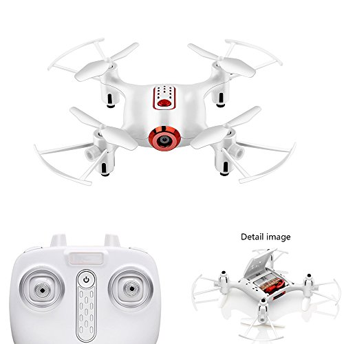YMXLJJ FPV Fernbedienung Drohne und Kamera mit Kamera Live Video Wifi 2,4 Ghz 480 P 6-Achsen-Gyro Quadcopter 360 ° Flip, Headless-Modus, Höhe Retention,White