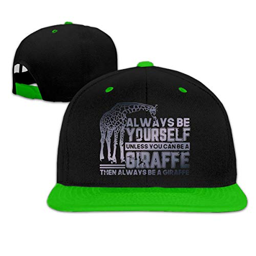 09e4291f7ab8 Wnocdmv Mens and Womens Always Be Yourself Unless You Can Be Giraffe  Baseball Cap Classic Cotton Snapback Cap