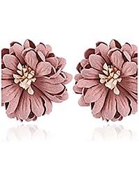 HFJ&YIE&H Mujer Cierre del pendiente Pendientes cortos Pendiente Flor Flores Floral Moda estilo de Bohemia Resina Forma de Flor Joyas Para Casual