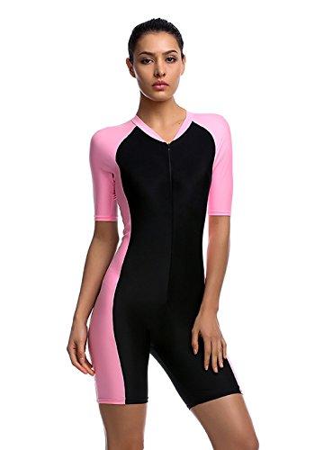 damen-rosa-uv-schutz-wetsuit-neoprenanzug-tauchanzug-wassersport-short-neu-gr-l