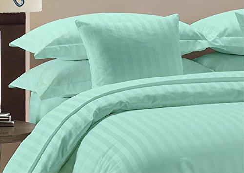 Komfort Bettwäsche 800tc 5-teiliges Bettbezug Set UK Super King Size 100% ägyptische Baumwolle Stripe, Aqua Blue, UK Super King -