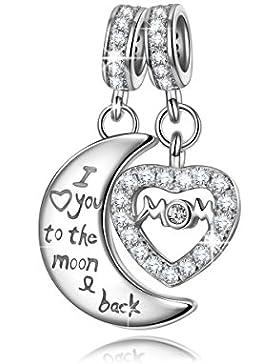 NinaQueen - Mutti, Ich liebe dich für immer - Damen-Charm 925 Sterling Silber