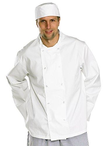 Click Workwear - Veste de chef - Fille Mixte Femme Garçon Homme, XXX-Large, Blanc, 1 Blanc