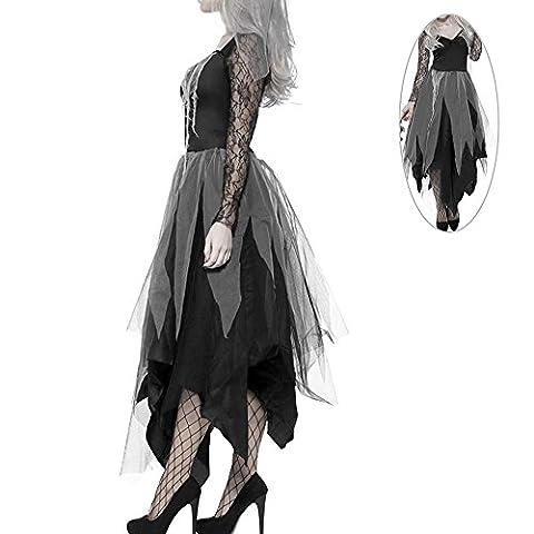 Halloween kostüm Damen Zombie Braut Leiche Vampir Gruseliger Effekt Kleid (M) (Vampire Zombie-kostüme)