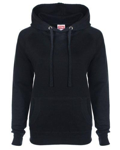 fdm hoodie FDM Ladies' Raglan Hoodie Black S