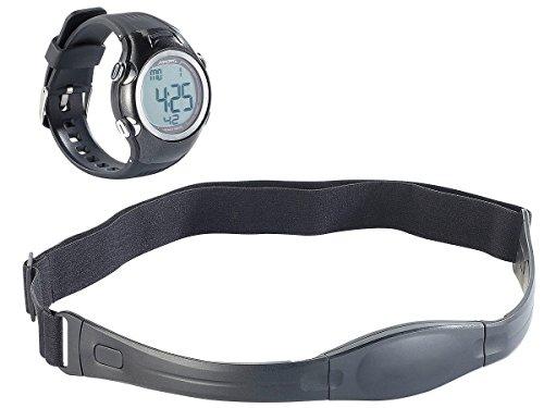 PEARL sports Pulsmessuhr: Fitness-Pulsuhr, spritzwassergeschützt, inkl. Brustgurt (Fitnessarmbanduhr)