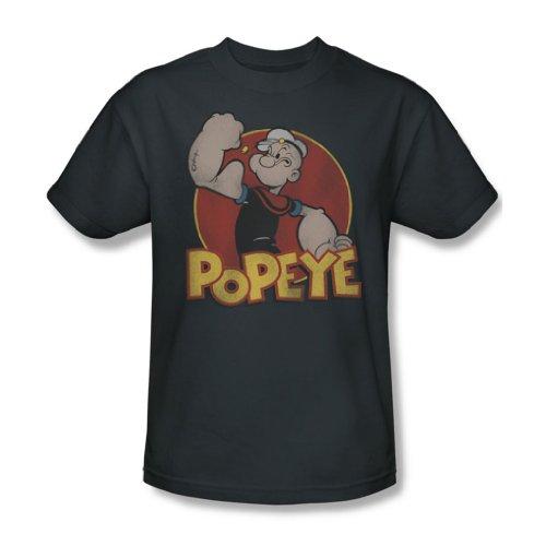 Popeye - Retro-Ring für Erwachsene T-Shirt in der Holzkohle, XX-Large, Charcoal