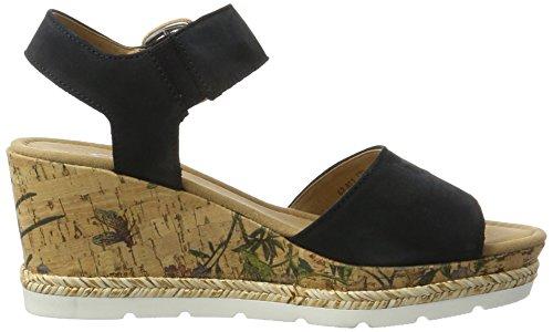 Gabor Shoes Comfort, Sandali con Zeppa Donna Blu (nightblueKorkFl.)