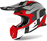 AIROH TOVS55 CASCO MOTO CROSS ROSSO MATTO TERMINATOR OPEN VISION SHOOT TG.XS