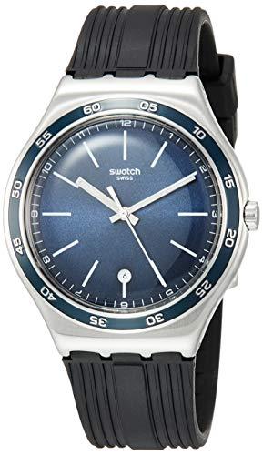 Orologio Swatch Irony Big Classic YWS428 Al quarzo (batteria) Acciaio Quandrante Blu Cinturino Gomma