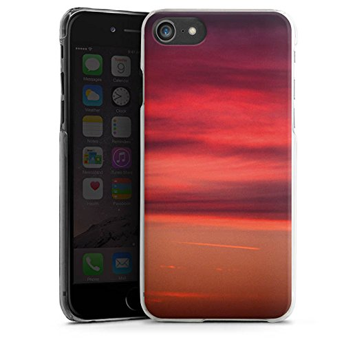 Apple iPhone X Silikon Hülle Case Schutzhülle Sonnenuntergang Himmel Romantik Hard Case transparent