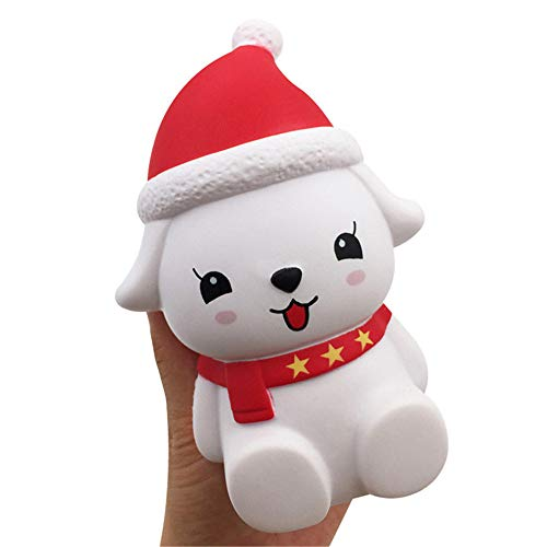 OHQ Juguetes Antiestres Squishy Juguete De Alivio De EstréS Navidad Lindo Perro Suave Perfumado Relleno Lento Juguetes Equipo De Espionaje