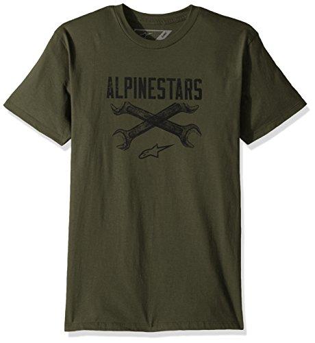 Alpinestars Herren T-Shirt Ratchet Motorsports Modern Fit Short Sleeve grün