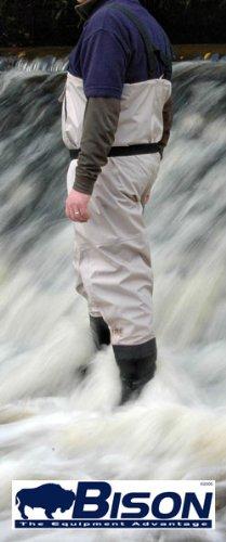 Rücken-knie Hoch Stiefel (Bison atmungsaktive Wathose - Stiefel-Füße - UK 11 / EU 45)