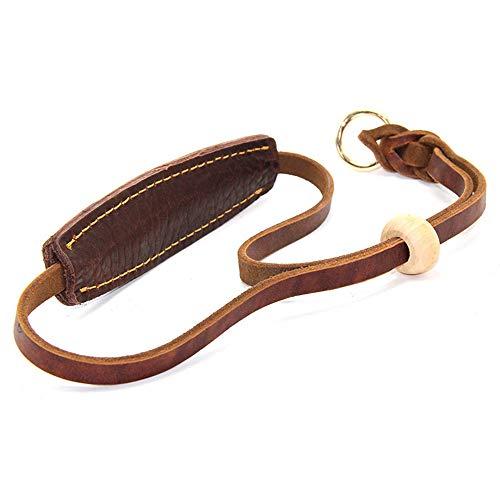 YPbanane Extra breites Lederhalsband für Hunde, Schneekette verstellbar