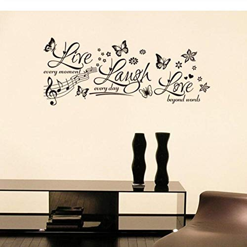 Und Blume Live Laugh Wohnzimmer Schlafzimmer Wandaufkleber Wholecan Remove Background ()