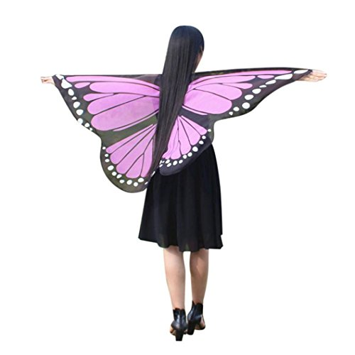 OVERDOSE Damen Karneval Kostüm Faschingskostüme Kinder Mädchen Schmetterling Flügel Kostüm Butterfly Wing Cape Schmetterlingsflügel Erwachsene Kimono Schal Cape Tuch (Kind Cheshire Cat Kostüm)