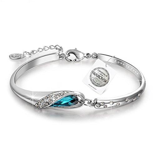 P&M-Cenicienta-Pulsera Mujer Joyería con cristales Swarovski Azul