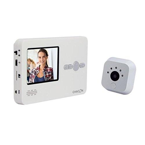 """Chacon 34815 - Teléfono de video mirilla con pantalla digital lcd de 2.8"""""""