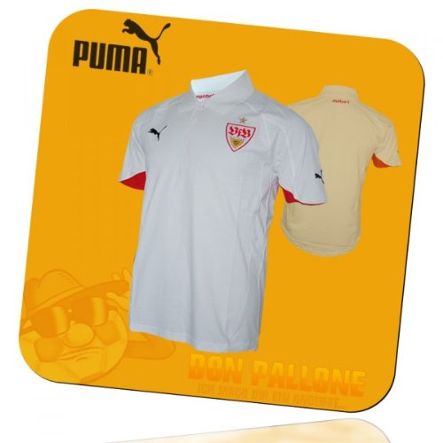 S/s Polo-tee (Puma VfB Stuttgart Polo Shirt Tee Gr. S weiß - 737570)