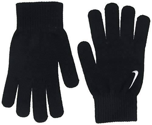 Nike Erwachsene Swoosh Knit Handschuhe, Black/White, S/M