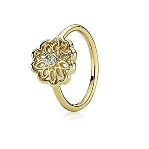 pandora damen ring gold mit diamant in der blume 50 15 9 150168d50 schmuck. Black Bedroom Furniture Sets. Home Design Ideas