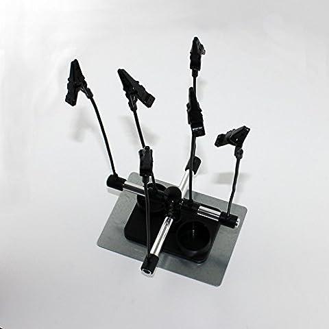 ABESTAIR Un mejor Smart Hobby partes soporte PINTURA con aerógrafo pistola para manguera de jardín Booth soporte - seis pinzas de cocodrilo con función de atril