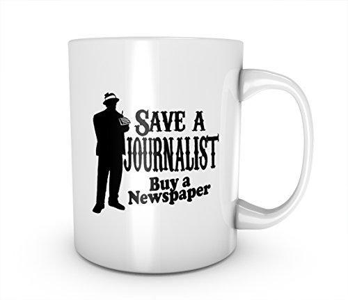Save A Journalist Buy A Newspaper Keramik Tasse Kaffee Tee Becher Mug