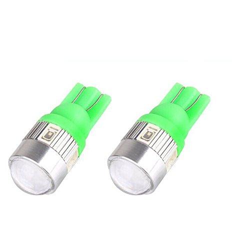 Preisvergleich Produktbild Janecrafts 2x T10 5630 6 SMD LED Lamp für Anzeige / Breite Lampe Auto Kennzeichenbeleuchtung Türbeleuchtung Tür Licht Door Shadow Einstiegsbeleuchtung Licht Lampe mit Linse DC 12V