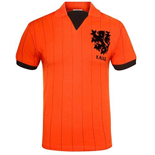 Holland Países Bajos (Holanda) - Camiseta de La Primera Equipación - Para Hombre - Producto Oficial Estilo Retro - Temporada 1983/1994 - Naranja 83 - S