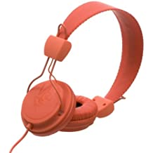 WeSC WESC7001474 Matte Conga - Auriculares supraurales (incluye adaptador para teléfonos Sony Ericsson y Nokia), color naranja