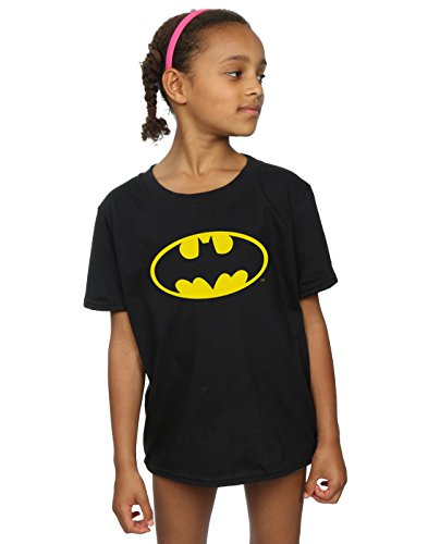 DC Comics niñas Batman Logo Camiseta 9-11 Years Negro