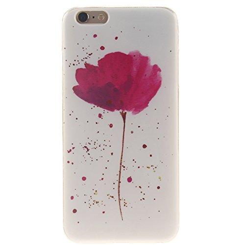 "Apple iphone 6 plus/6s plus5.5"" hülle,MCHSHOP Ultra Slim Skin Gel Schlank TPU Case Schutzhülle Silikon Silicone Schutzhülle Case Back Cover für Apple iphone 6 plus/6s plus 5.5"" - 1 Kostenlose Stylus P Violet Yolanda Flower"