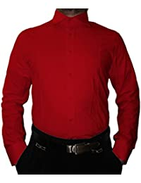 23a319887174 Pierre Martin Designer Herren Hemd klassischer Kragen New Kent 2 Knopf  Herrenhemd Slim Fit tailliert Langarm