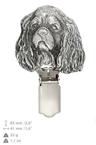 Cavalier King Charles, Hund, Hund clipring, Hundeausstellung Ringclip/Rufnummerninhaber, limitierte Auflage, Artdog