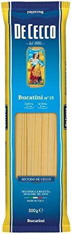 De Cecco 10x Bucatini No. 15 Italian Pasta 500g