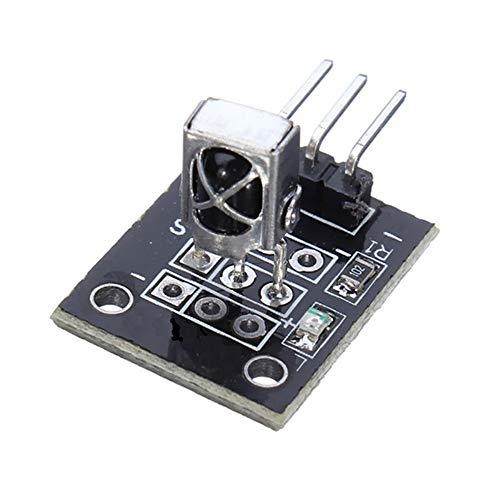 1PCS KY-022 37.9 KHz Módulo Receptor de Sensor infrarrojo infrarrojo para Arduino AVR PIC TW - Negro
