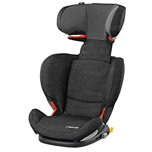Maxi-Cosi RodiFix AirProtect Child Car Seat, ISOFIX Booster Seat, Extra Protection, 3.5-12 Years, 15-36 kg, Nomad Black Maxi-Cosi Maxi-cosi axiss car seat swivels 90° degrees allows for front-on access to get your toddler in and out of the car more easily 8 comfortable recline positions Install using the car's seat belt and the integrated belt tensioner ensures a solid fit 2