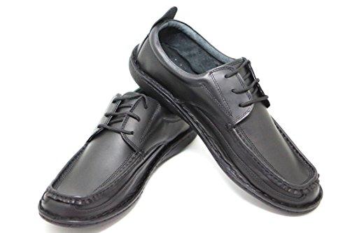 KS® - Chaussures bateau 04 pour homme - cuir Noir