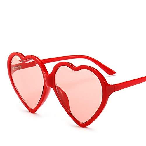 Likezz love heart occhiali da sole da donna cat eye vintage regalo di natale nero rosa rosso a forma di cuore occhiali da sole per donna, rosso