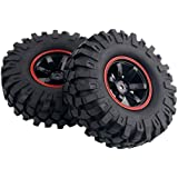 Yosoo 4 x 1:10 RC Buggy Truggy Neumático Rueda de Plástico Llantas de Goma