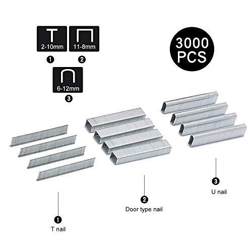 Heftpistole – strapazierfähiges Heftgerät 3 in 1 mit 600 Heftklammern inklusive Nagel für...