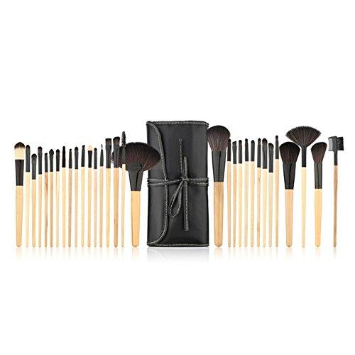 RoseFlower® Professionnel 32 Pcs Pinceaux Maquillage Trousse - Pro Make Up Cosmétique Brosse/Brushes Kit Pour Visage Blending Fondation Blush Eyeliner Poudre