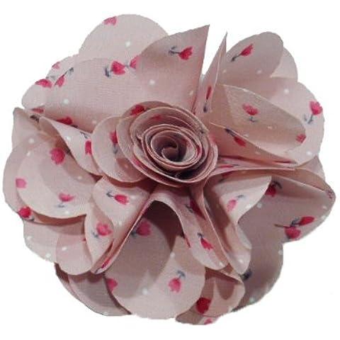 Rougecaramel-fiori o Spilla fiore, motivo: liberty, colore: rosa antico
