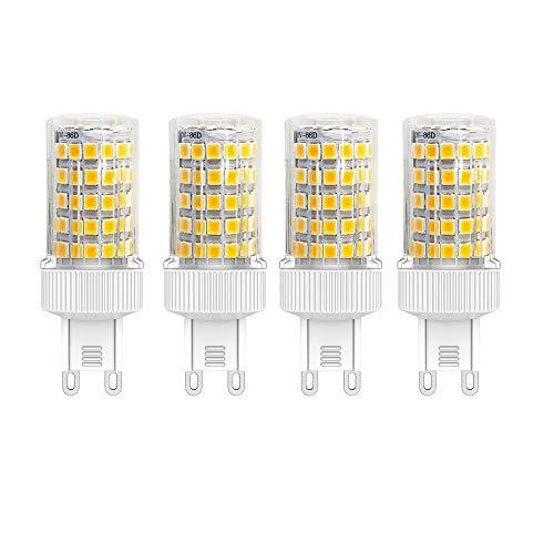 G9 LED Warmweiss 3000K 10W -700 Lumen, G9 70W Halogen Leuchtmittel Ersatz,Nicht Dimmbar, 360° Abstrahlwinkel Energiespar LED Birne, mit Keramik, 220-240V AC, 4er-Pack 700 Lumen Led