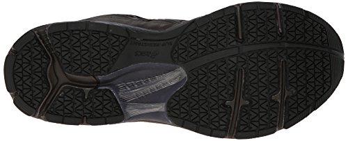 Asics Mens Gel-Foundation Workplace (4E) Walking Shoe Dark Brown/Black