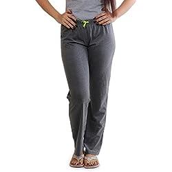 SlumberJill Fluo Drawstring Charcoal Lounge Pants (FWSJ302_Charcol_Large) (FWSJ302L)